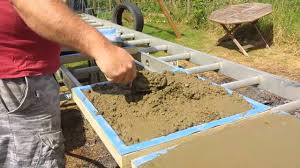 Patio Block Molds by Making Patio Slabs Youtube