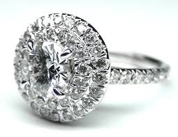 diamond double rings images Engagement ring cathedral double halo diamond engagement ring jpg