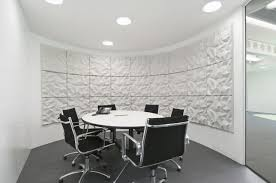 Large White Meeting Table The Furniture In An Office Reflects The Work Culture Style And