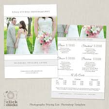 wedding photography packages wedding photography package pricing list template