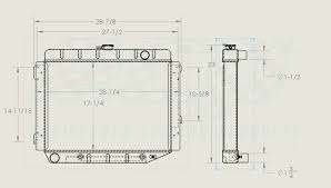 1968 mustang dimensions mopar 26 big block aluminum radiator