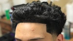 fade haircut styles for curly hair curly wavy hair taper fade haircut tutorial youtube