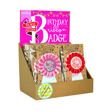 birthday ribbon birthday ribbon badge girl the best day set of 24