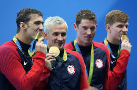 gold medal hair rio 2016 olympics ryan lochte blond hair turned green time