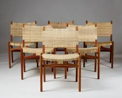 hans j wegner set of six chairs ch31 1956 available for