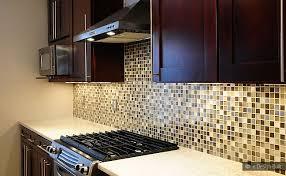 kitchen with mosaic backsplash kitchen dazzling kitchen brown glass backsplash cabinet