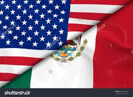 United States American Flag States And Mexico Flag Clipart