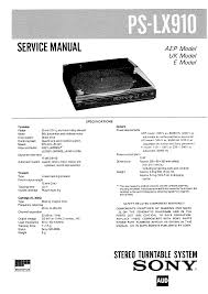 sony pslx910 service manual immediate download