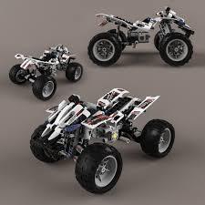 lego technic car lego technic quad bike 3d model cgtrader