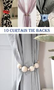 10 super diy curtain tie backs cool diys