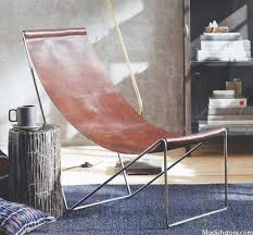 arlo leather sling chair
