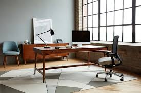 West Elm Office Desk West Elm Workspace Mid Century Desk With Drawers