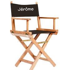 siege metteur en chaise de metteur en scène personnalisée naturel noir