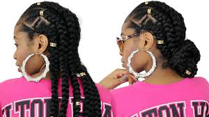 hair puff accessories feed in cornrows with extensions on hair zig zag