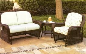 furniture exclusive rattan wicker patio outdoor glider and white
