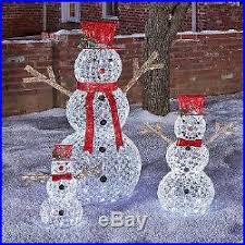 outdoor decoration bead led light snowman yard
