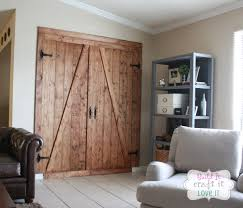 diy faux barn door room divider build it craft it love it