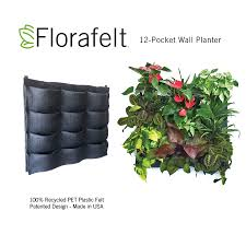 Wall Garden Planter by Florafelt 12 Pocket Vertical Garden Planter