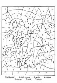 by number coloring pages