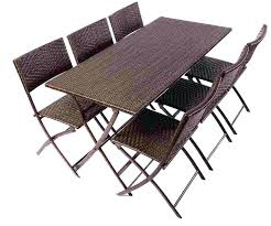 folding patio table with umbrella hole folding patio table for collection in outdoor table and chairs