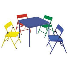 kids fold up table and chairs cosco 24 in x 24 in kid s folding chair and table set in multiple