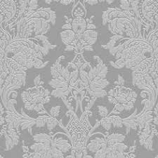 grandeco majestic grey damask glitter effect wallpaper damasks