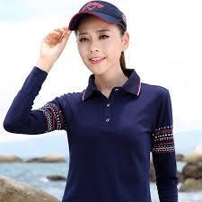 summer plus size polo shirt women floral print poloshirt long