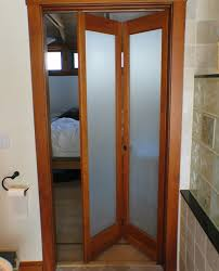 Door Ideas For Small Bathroom Bifold Bathroom Doors For Small Spaces With Frosted Glass