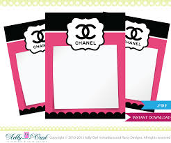 chanel baby shower coco chanel thank you tiny notes printable diy party a high
