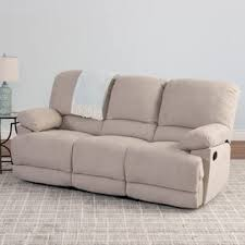 Chenille Reclining Sofa by Polmont Beige Chenille Recliner Sofa Free Shipping Today