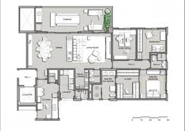 4 Bedroom Modern House Plans by House Plans 4 Bedrooms One Floor Webshoz Com