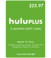 gift of the month hulu gift card 3 months 23 97 us value email delivery