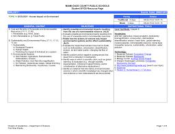 topic v u2013 human impact on environment science miami