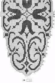 filet crochet patterns of center table bluebells