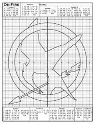 coordinate plane graphing hunger mockingjay coordinate plane graphing activity tpt