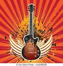 guitar and wings theme background clip vector search
