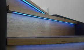 wooden stair tread lights lighting designs ideas