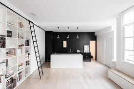 mur noir cuisine cuisine avec mur noir