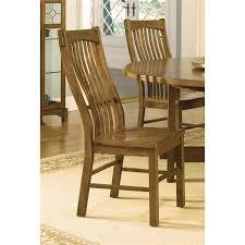 Mission Oak Dining Chairs A America Laurelhurst Slatback Dining Chair In Rustic Oak