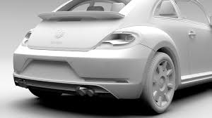 volkswagen beetle 2017 white vw beetle turbo 2017 3d model vehicles 3d models classic 3ds max