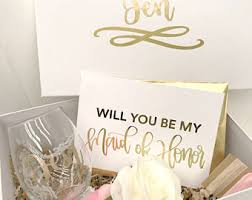 will you be my of honor gift of honor box etsy