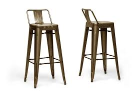 Baxton Studio Bar Stools Baxton Studio French Industrial Modern Bar Stool In Bronze With