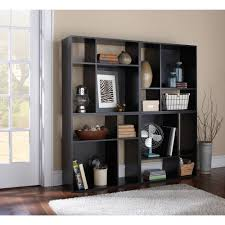 Modern Modular Bookcase Mainstays Asymmetrical Cube Storage Multiple Colors Walmart Com