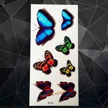 popular blue butterfly tattoos buy cheap blue butterfly tattoos