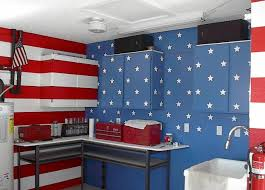 Red White And Blue Bathroom Patriotic Garage U2013 Ugly House Photos