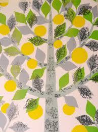 Lemon Kitchen Curtains by Gorgeous 50s Lemon Tree Fabric From Jane Foster Blog ściana
