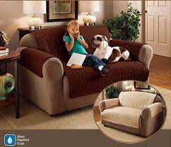 2 seater sofa protector chocolate brown 46 x 70 5 water