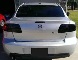 mazda 3 tail lights mazda 3 smoked tinted tail light covers vinyl 04 09 sedan ebay