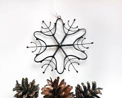 stained glass christmas ornaments clear snowflake decoration