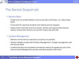 Service Desk Courses Thinkfaculty Itil Training Course Ibm